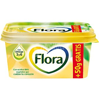 Flora Margarina vegetal + 50 g gratis Envase 500 g