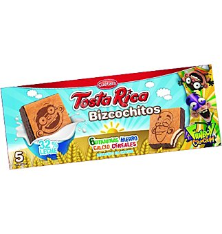 RICA Bizcochitos tosta . 163 g PACK-5 unid