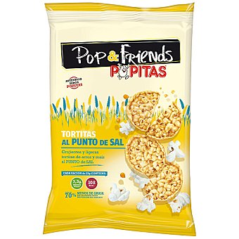 Pop & Friends Popitas Tortitas de arroz y maíz al punto de sal Bolsa 60 g