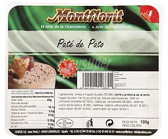 Montflorit Paté de pato al natural Envase 100 g