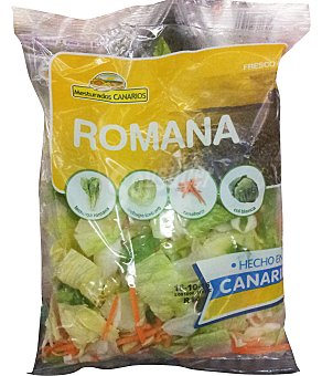 VARIOS Ensalada romana ( lechuga romana, lechuga iceberg, zanahoria, col repollo, lechuga hoja de roble roja) Bolsa 200 g