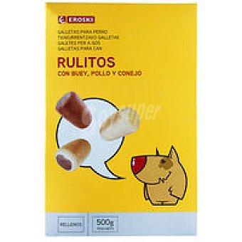 Eroski Rulito relleno de buey-pollo-conejo Caja 500 g