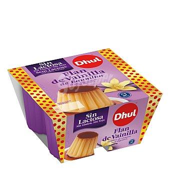 Dhul Flan de vainilla sin lactosa, sin gluten y sin soja 4 x 100 g