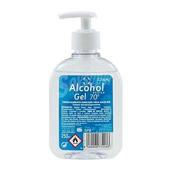 Deliplus Alcohol etilico 70 grados para masajes en gel (dosificador) Botella 250 cc