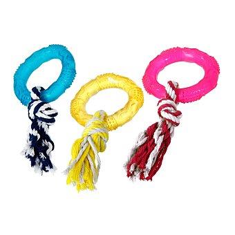 Karlie Juguete para perros anillo con cuerda en colores surtidos 1 unidad