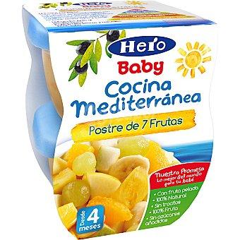 Hero Baby Tarrito postre de 7 frutas Cocina Mediterránea Estuche 400 g