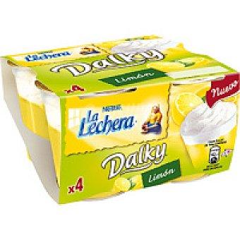 La Lechera Nestlé Dalky de limón-nata Pack 4x100 g