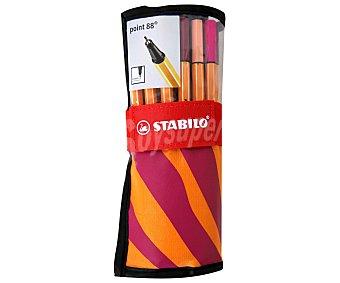STABILO POINT 88 Rotuladores Escritura de Punta Fina Diseño con Motivo de Animales Color Naranja 25 Unidades