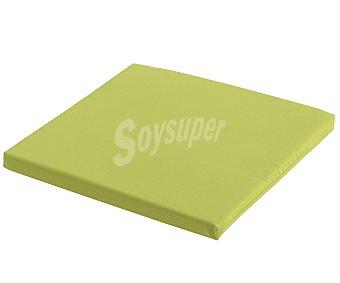 COMATEX Cojín para silla modelo Grey Line de color verde lima, de 40x40x3 centímetros, lavable y de gran resistencia al exterior 1 unidad