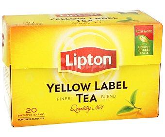 Lipton Té Yellow Label 20 Unidades de 1,5 Gramos