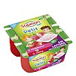 Kids Petit Maxi especialidad vegetal de soja 2 frambuesa + 2 fresa sin lactosa Pack 4 unidades 90 g Sojasun
