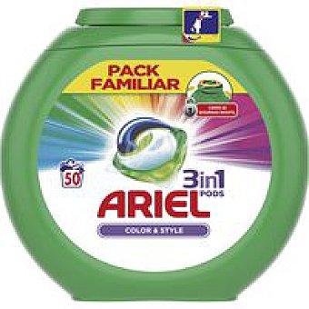Ariel Detergente color en cápsulas Caja 50 dosis