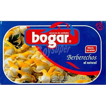 Bogar Berberechos al natural pequeños Lata 63 g neto escurrido