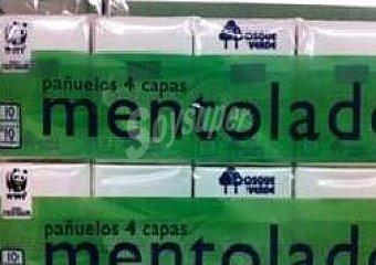 Bosque Verde Pañuelos papel bolsillo compacto 4 capas mentol (envase verde) Pack 10x10unidades