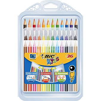 Bic Kids Pack de 36 lápices, ceras y rotuladores de colores Pack de 36