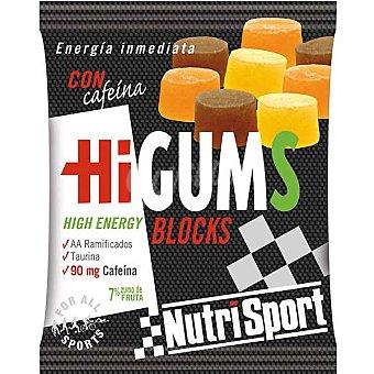 NUTRISPORT Blocks con cafeína Higums Envase 80 g (30 porciones)