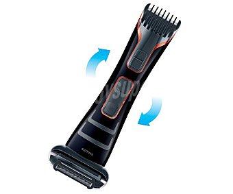 Philips Afeitadora corporal philips Bodygroom TT2039/15, uso en seco y húmedo, 5 longitudes, hasta 50 minutos de autonomía, diseño con acabado doble