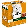 Gold terrine alimento húmedo surtido para gato Pack 8 latas x 85 g Purina Gourmet