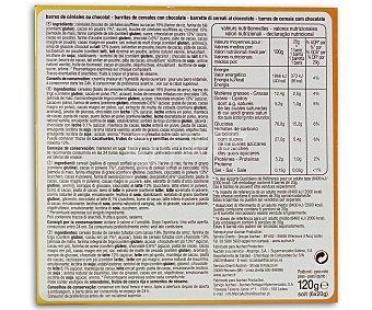 Auchan Choco Duo (barritas de cereales con chocolate) 120 gramos