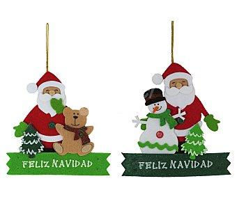 """Noel art Cartel de 16 x 17 centímetros con la imagen de Papa Noel y la frase """"Feliz Navidad"""" impresa ART."""