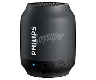Philips Mini altavoz de batería, Bluetooth, color negro y gris BT50B/00 1 unidad