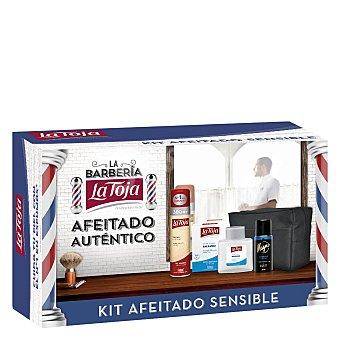 La Toja Pack afeitado (espuma piel sensible 300 ml. + after shave extra sensible 100 ml. + desodorante Magno 150 ml. + neceser) 1 ud