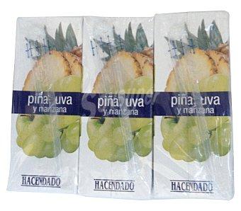 Hacendado Zumo piña uva y manzana 6 x 200 ml