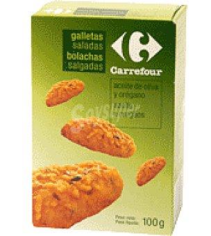 Carrefour Galletas saladas con aceite de oliva y orégano 100 g
