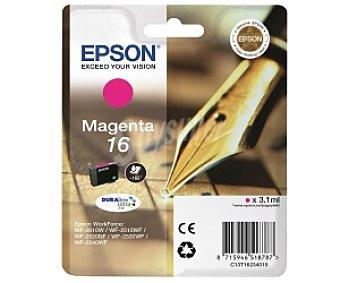 Epson Cartucho de tinta 16, magenta, compatible con impresoras: workforce WF-2520NF, WF-2010W, WF-2650DWF, WF-2530WF, WF-2510WF, WF-2660DWF, WF-2540WF, WF-2630WF
