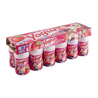 Hacendado Yogur liquido fresa Botellin pack 12