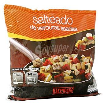 Hacendado Salteado verduras asadas ( calabacin,pimiento,cebolla,berenjena ) congelado Paquete 400 g