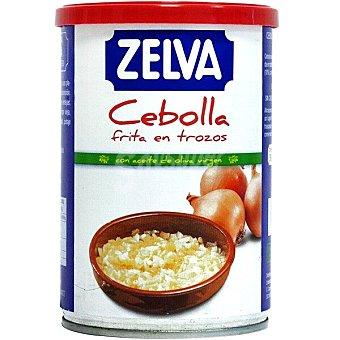Zelva cebolla frita en trozos con aceite de oliva virgen lata 390 g