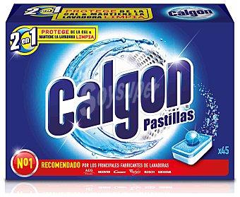 Calgon Antical Lavadora Pastillas 2 en 1 45 ud