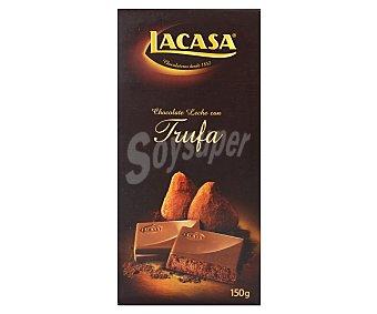Lacasa Chocolate con leche relleno de praliné de trufa 150 gramos