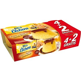 La Lechera Nestlé Flan de huevo + 2 gratis Pack 4 unidades 100 g