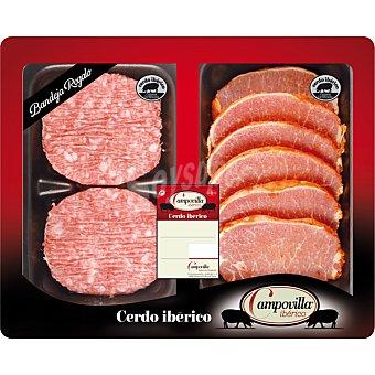 CAMPOVILLA Lomo adobado de cerdo ibérico peso aproximado Bandeja 390 g