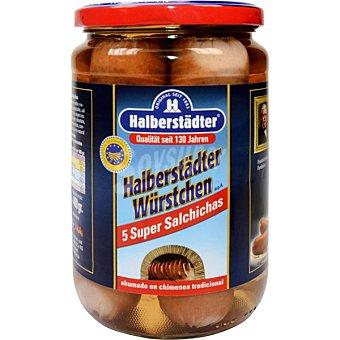 HALBERSTÄDTER Salchichas Bockwurst súper frasco 400 g neto escurrido 5 unidades