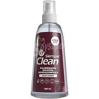 Siempre Solución hidroalcohólica higienizante 73% de alcohol olor a cherry clean Spray 250 ml