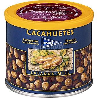 Hipercor cacahuetes salados miel lata 311 g
