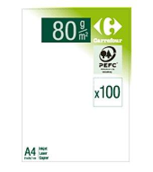 Carrefour Paquete hojas blanco 80GR A4 100 hojas 80GR