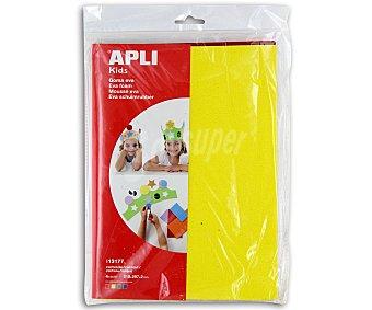 APLI Bolsa Planchas de Foam de Colores y Textura Rugosa, Tamaño Folio, Goma Eva 4 Unidades