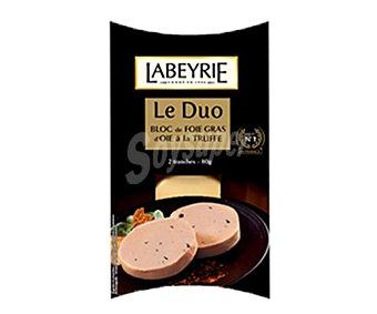 LABEYRIE Bloc de foie grass de oca loncheado con trufa pack 2 unidades 40 gramos
