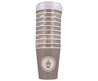 Actuel Vasos desechables de cartón con tapa, 0,33 litros, 10 unidades, ACTUEL. 0,33 litros