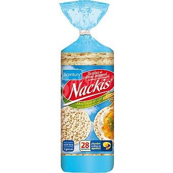 Nackis Bicentury tortitas de arroz Integran bajo en sal  bolsa 130 g