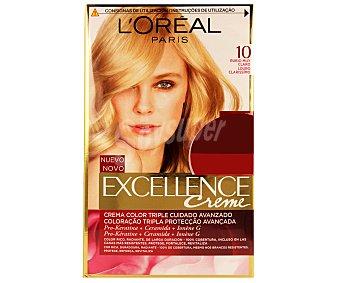 Excellence L'Oréal Paris Tinte de color rubio muy claro nº 10 Pack de 2 unidades