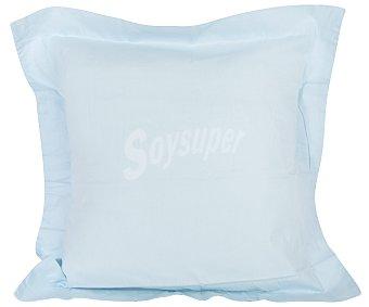 Productos Económicos Alcampo Cuadrante azul pastel 100% algodón con cierre de solapa, 55x55 centímetros alcampo