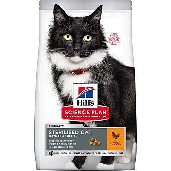 Hill's Science plan mature adult sterilised pienso especial para gatos de +7 años esterilizados con sabor a pollo Bolsa 1,5 kg