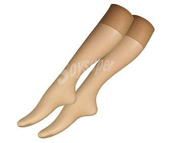 MARIE CLAIRE Pack de 2 pares de minimedias 10 den finas y transparentes con puño ancho confort y puntera invisible Pack de 2