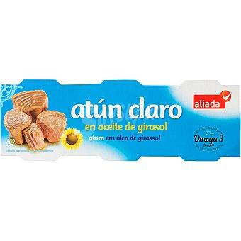 Aliada Atún claro en aceite de girasol pack 6 lata 52 g neto escurrido Pack 6 lata 52 g