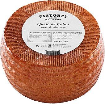 Pastoret Queso de cabra semicurado bajo en grasa y sal  3 kg (peso aproximado pieza)